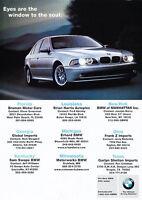 2000 BMW 528i - the soul - Classic Vintage Advertisement Ad PE99