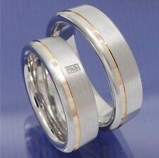 Ringe Trauringe Bicolor Silber Verlobungsringe Jk5-10 Perfekte Verarbeitung Trauringe Trauringe