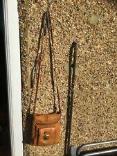 Small Oasis tan 100% leather crossbody bag