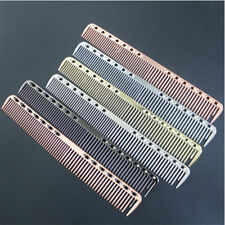 Aluminum Metal Cutting Comb Hair Hairdressing Barbers Salon Combs Anti-static
