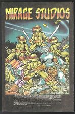 NEW AGE COMICS # 1 FANTAGRAPHICS PREVIEWS TEENAGE MUTANT NINJA TURTLE BACK COVER