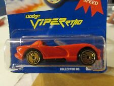 Hot Wheels Dodge Viper RT/10 #210 All Blue Card Red w/gold medal speed seal