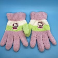 Vintage Hellp Kitty Gloves Winter Soft Adult One Size Unisex