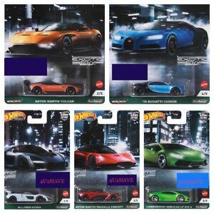 Hot Wheels 2021 Car Culture EXOTICS Set Of 5 D case LAMBOR BUGATTI PRE-ORDER