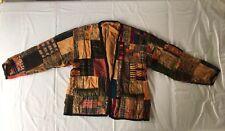 Patchwork Vintage Jacket Coat Boho Hippy Festival Size 10 12 14 Amazing On!