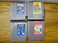Nintendo NES Game Lot of 4
