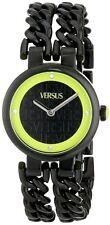 Versus by Versace Women's SGR070013 Berlin Black IP Steel Crystal Bracelet Watch