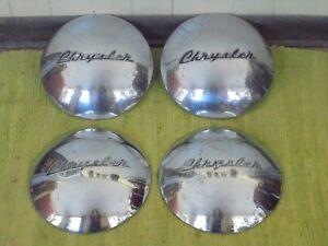 46 47 48 Chrysler Dog Dish HUB CAPS Set of 4 Hubcaps 1946 1947 1948