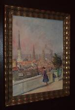 Carl WEISS (1860-1931) attr.  Blick auf Altstadt von ?