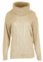 R42 NEW WOMENS LADIES CHUNKY CABLE KNIT SWEATER PULLOVER JUMPER