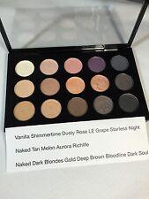 BNIB MAC 15 Pigment Pressed Pans Eyeshadow Palette Naked/Tan/Melon/grape/gold