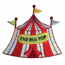 Iron On Craft Motif Big Top Circus Tent Glitter Stylish Patch