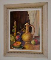 """1899-1964 B. LEONARD Original RARE Still Life Framed 23"""" x 28"""" LISTED ARTIST"""