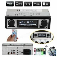 Bluetooth Vintage Car Radio MP3 Player Stereo USB Classic Car Audio UK Shipping