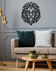 Geometric Lion Art - Wooden Laser Cut Wall Art