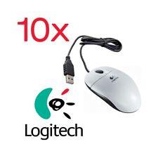10X USB Optical Mouse Logitech OEM 1000DPI White Ergonomic High Precision