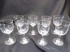 ~NORITAKE 8 Vtg. Mid Century Port/Cordial Star Burst Etched Glasses - Noritake