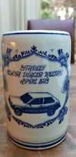 Vtg Delft Blue White Starlet Mug Tankard Stein Toyota Dealer meeting April.1978