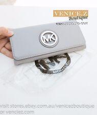 BNWT US$158 MICHAEL KORS FULTON Flap Continental Leather Wallet Clutch Purse