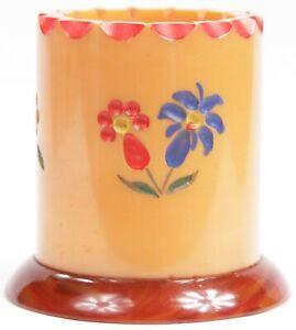 Vintage Baklite Butterscotch Carved Toothpick Pen Cigarette Holder Flowers Retro
