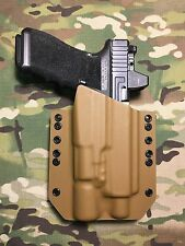 Coyote Tan Kydex Holster for Glock 17 22 Threaded Barrel Surefire X300 V Vampire