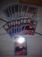 TOM GLAVINE Rookie Card Lot. 10- 1988 Donruss & 7- 1988 Topps Atlanta Braves