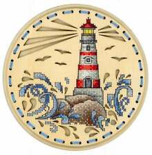 Embroidery on a wooden base kit Sliver by MP Studio O-020 - Breath of the ocean