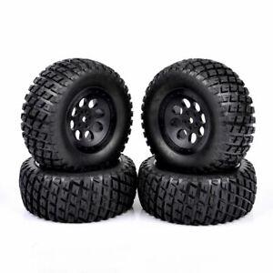4X12mm Short Course Truck Tire&Wheel Hex 1:10 Scale RC For TRAXXAS SlASH Car