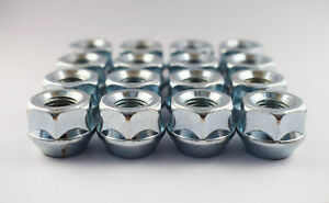 """Set of 16 x Extra Short Spacer Nuts 7/16"""" UNF, 19mm Hex Open"""