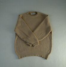 Vintage LYLE & SCOTT - 100% CAMEL Hair Chunky Knit crew neck Jumper - Sz M