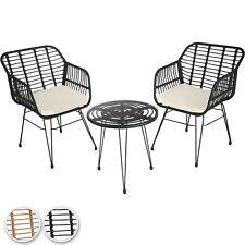 Rattan Sitzgruppe 3-tlg. Balkonset Bistroset Garten Terrasse Balkonmöbel Lounge