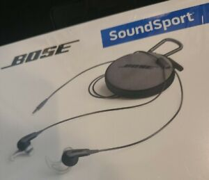 Bose Soundsport In Ear Wired Headphones - Charcoal NEW