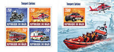 Special Transport Fire Engines Rescue Motos Helicopters Cars Niger MNH stamp set