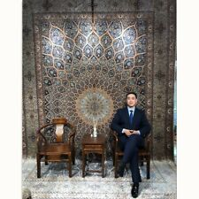 Yilong 10'x14' Large Silk Area Rugs Hand-knotted Oriental Carpets Handmade 1888