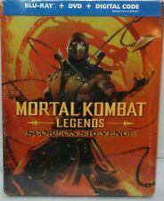 Mortal Kombat Legends Scorpion's Revenge Steelbook - Blu Ray, DVD, Digital - New