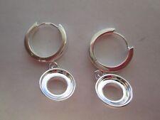 Authentic Kameleon Sterling Silver Ear Rings (BLANK) NEW (X)