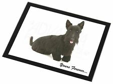 Scottie Dog 'Yours Forever' Black Rim Glass Placemat Animal Table Gift, AD-ST4GP
