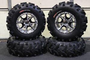 "POLARIS ACE 570 25"" XL BEAR CLAW  ATV TIRE & COBRA M/B WHEEL KIT POL3CA"