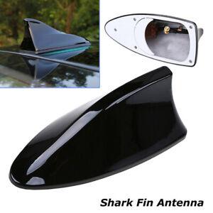 Black Universal Car Roof Radio AM/FM Signal Shark Fin Style Antenna Cover