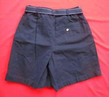 ST. JOHNS BAY ~ Women Ladies Navy Blue Casual Shorts w/ Belt ~ Size 8