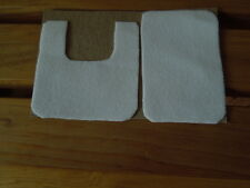 Dollhouse Miniature Bath Rug Set 1/12 SCALE SOFT WHITE LIES FLAT doll can stand