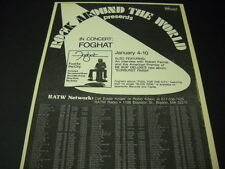 Foghat in concert on Rock Around The World 1976 Promo Poster Ad