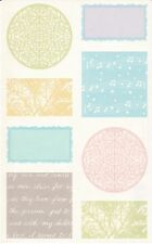 Mrs. Grossman's Giant Stickers - Vellum Medallions - Labels, Seals - 2 Strips
