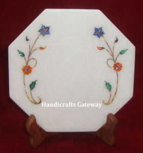 High Quality Stone Inlaid Plate, Latest Design Inlay Marble Decorative Plate