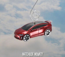 2016 Tesla Model X Electric SUV Crossover Car Christmas Ornament 1/64 Elon Musk