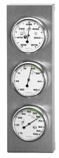 Sunartis 3-4013 THB197 Stainless Steel Weather Station Barometer Hygrometer and