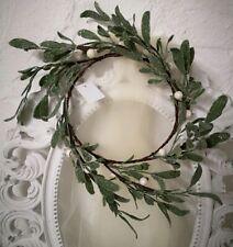 Türkranz Mistel Adventskranz Mistelkranz Weihnachten Shabby Chic Vintage  17cm