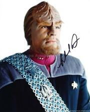 MICHAEL DORN as Commander Worf - Star Trek GENUINE AUTOGRAPH UACC (R6157)