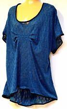 plus sz XL /  24 TS TAKING SHAPE Gonzo Tunic peacock-blue funky top NWT! rrp$120