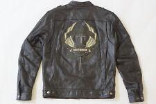 Harley Davidson Men Camaraderie Sword Military Black Leather Jacket M 97077-09VM